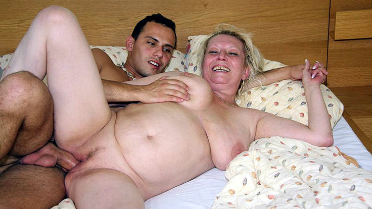 Lusty Grandmother Cooter Plowed